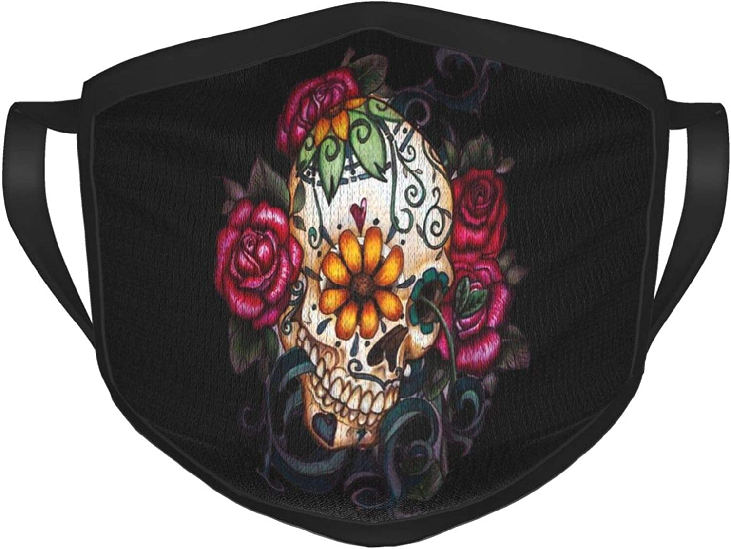 Aboutbaby Sugar Skull Floral Style Cloth Mask Dustproof Protective Bandanas for Kids Teens Men Women