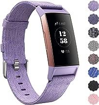 KIMILAR Compatible for Fitbit Charge 3 Cinturino Tessuto, Sgancio Rapido Morbido Nylon Aggiornato Sostituzione Braccialetto Fitbit Charge 3 & SE Fitness Tracker