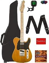 Fender Squier Affinity Telecaster - Butterscotch Blonde Bundle with Gig Bag, Tuner, Strap, Picks, and Austin Bazaar Instru...