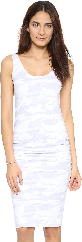 Monrow Women's Neutral Camo Shirred Dress