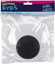 Darice EYE-6 2-Piece Adhesive Wiggly Eyes, 6-Inch