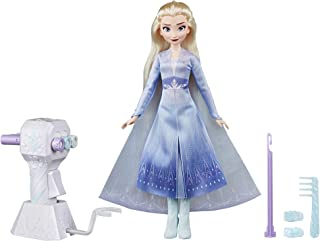 Disney Frozen Sister Styles Elsa Fashion Doll with Extra-Long Blonde Hair, Braiding Tool & Hair Clips - Toy for Kids Ages 5 & Up