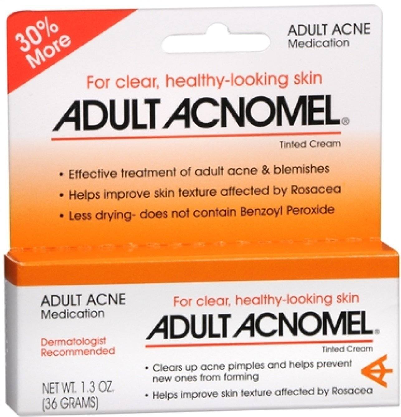 Adult Acnomel Tinted Cream 1.30 oz (Pack of 8)