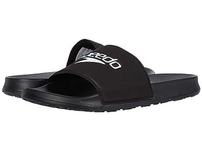 Speedo Deck Slide (Black/White) Men