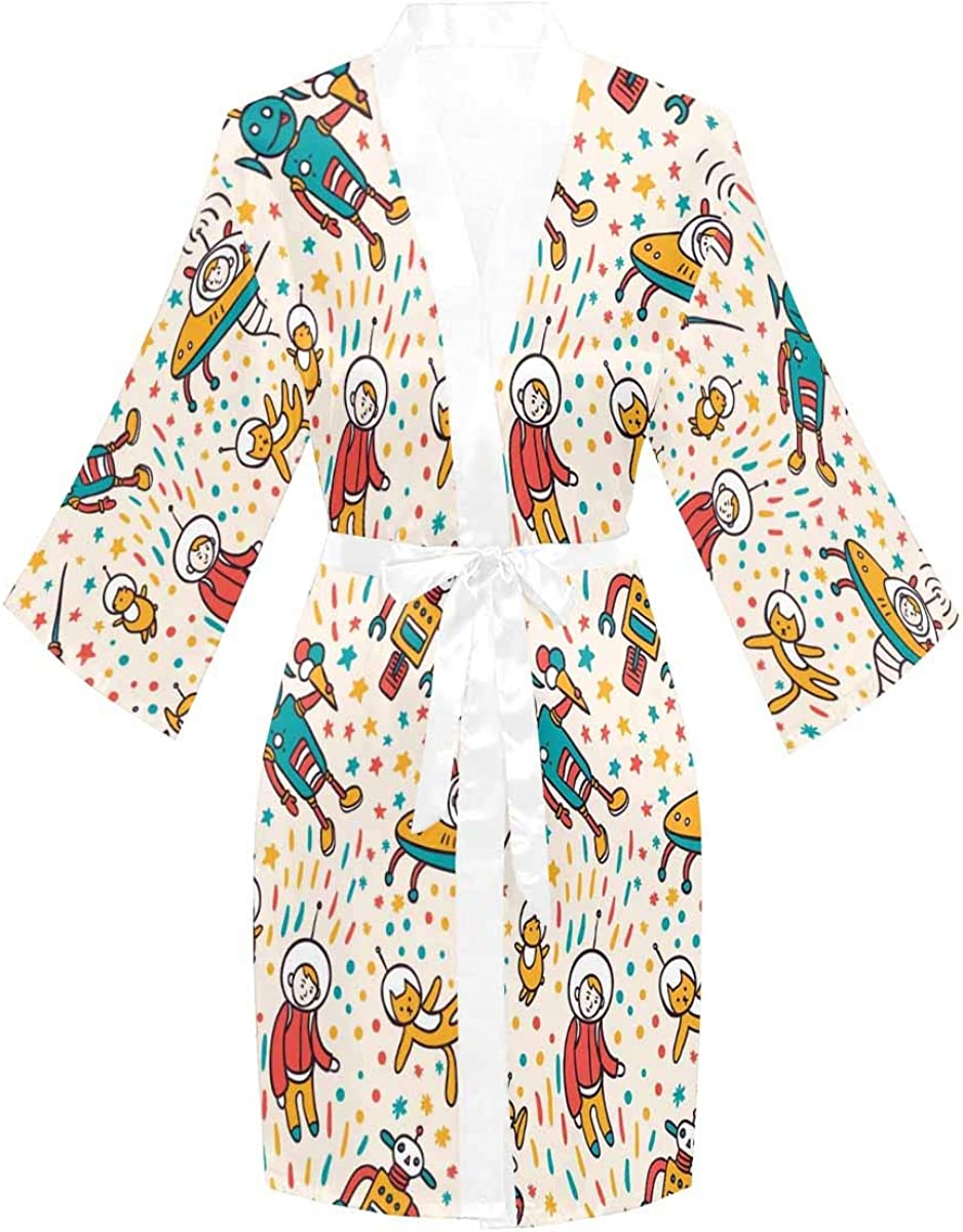 InterestPrint Long Sleeve online shop Robe with Kimono for Sleeves Bathrobe High quality