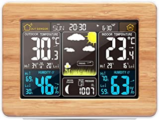 Digital Weather Station Forecast Clock Clock, Weather Color Screen Multifunctional Electronic Alarm Clock Perpetual Calend...