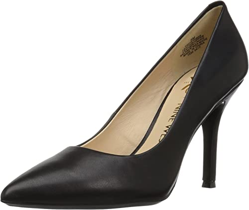 Nine West Wohommes FIFTH9X FIFTH9X FIFTH9X Fifth Pointy Toe Pumps, noir Calf Leather - 8 B(M) US f76