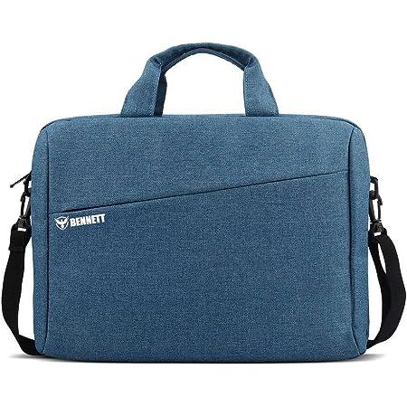 Bennett Mystic 15.6 inch Laptop Shoulder Messenger Sling Office Bag, Water Repellent Fabric for Men and Women (Blue)