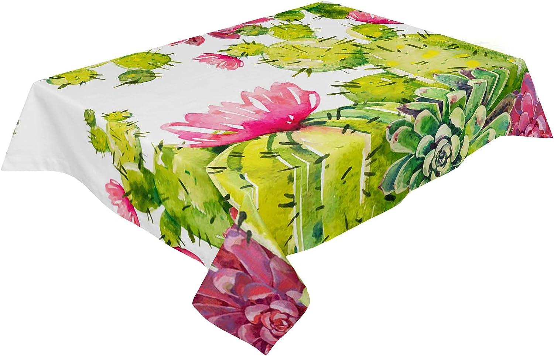 LEO BON Rectangle Tablecloth Trust Washable Fabric Linen Tropic shop Cotton
