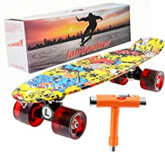 "Landwalker 22"" Complete Skateboard Banana Cruiser Galaxy Skateboards Boys Girls Kids Board"