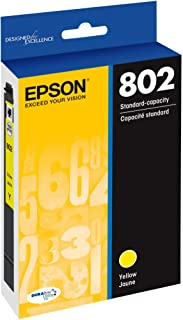 EPSON T802 DURABrite Ultra Ink Standard Capacity Yellow Cartridge (T802420-S) for select Epson WorkForce Pro Printers