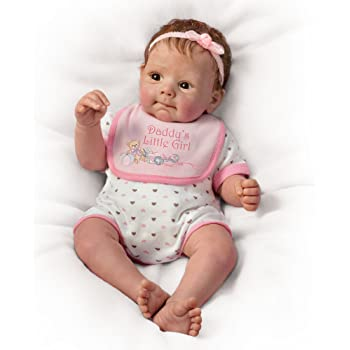 The Ashton - Drake Galleries So Truly Real® Lifelike Baby Doll 'Daddy's Little Girl' - Realistically Detailed - Weighted Like a Real Baby Girl Doll