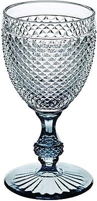 Vista Alegre Bicos Bicolor All Purpose Goblet with Grey Stem,