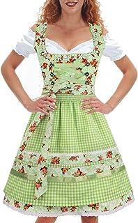 Kiddy Tracht Bambini Dirndl Abito Tradizionale Bavarese Dirndl Set 3 Pezzi Costume Oktoberfest Carnevale Donna Taglia 92-152