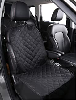 Alfheim Nonslip Rubber Backing Front Seat Cover with Anchor and an Adjustable Pet Dog Car Seat, Black, One Size