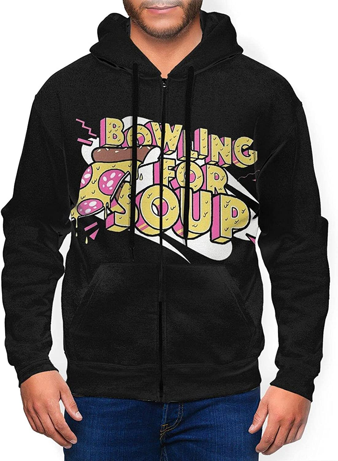 Berniellis Bowling for Soup Men's Hooded Max 61% OFF Athletic Sweatshirt Free shipping on posting reviews Fit