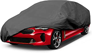 Leader Accessories Premium Car Cover 100% Waterproof Fit Car's Length Up to 200'' Breathable Outdoor Indoor Black Sedan Cover