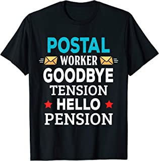 Funny Retirement Party Gifts Retired Postal Worker T-Shirt