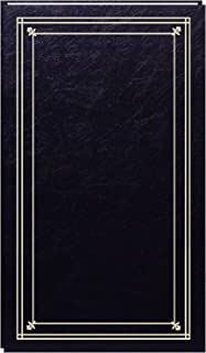 Pioneer JPF-46/BK Photo Albums 204-Pocket Post Bound Slim Line Leatherette Cover Photo Album for 4 by 6-Inch Prints, Black