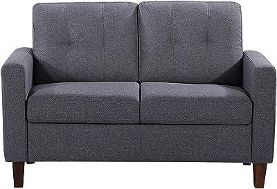 US Pride Furniture Love Seats, Dark Gray