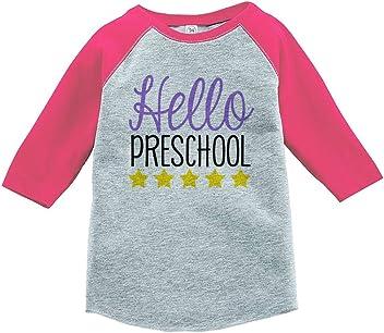 Custom Party Shop Girls Hello Preschool School T-Shirt