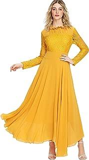 Best yellow lace dress long Reviews