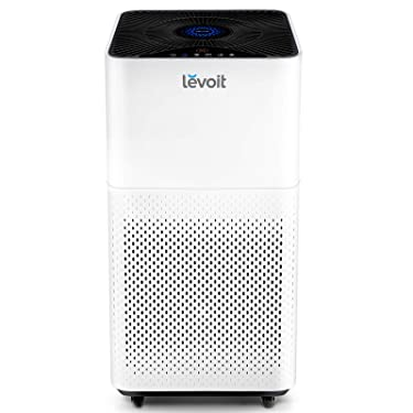 LEVOIT Air Purifier for Home Large Room with True HEPA Filter, Cleaner for Allergies and Pets, Smokers, Mold, Pollen, Dust, Quiet Odor Eliminators for Bedroom, Smart Auto Mode, LV-H135, White