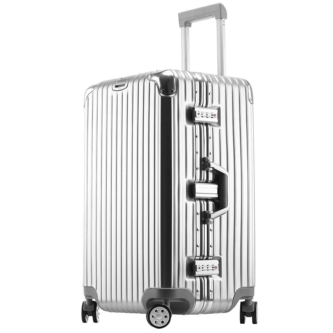 ボンイージ(bonyage) スーツケース アルミフレーム 拡張 大型 8輪キャスター TSAロック 付日本語取扱説明書 旅行出張 1年保証