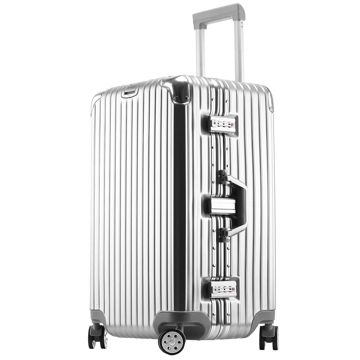窒息させるキャンバスメニューボンイージ(bonyage) スーツケース アルミフレーム 拡張 大型 8輪キャスター TSAロック 付日本語取扱説明書 旅行出張 1年保証