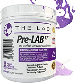 Pre-LAB17 Advanced Pre-Workout Supplement | Delicious Purple Pineapple Flavor | Supports Energy, Endurance, Focus, Drive, Vascularity | 20 Servings | Made in USA