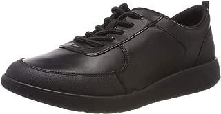 Clarks 男孩 Scape Street Y 粗革皮鞋