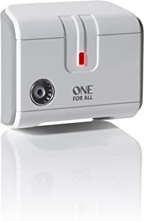 One For All Signal Booster/Splitter for TV - 1 Outputs (14x amplified) - Plug and Play - For interference free reception - Full HD compatible - white - SV9601
