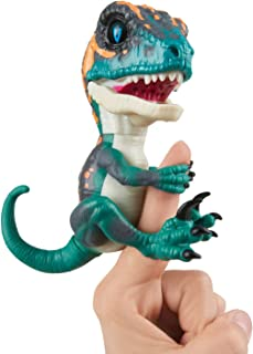 Untamed Raptor by Fingerlings - Fury (Blue) - Interactive Collectible Dinosaur - By WowWee, 3783