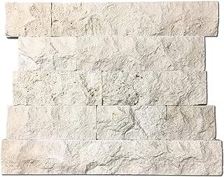 DX-1106 4 in. Height x Random in. Width Ivory Travertine Stone Tiles, Split Face