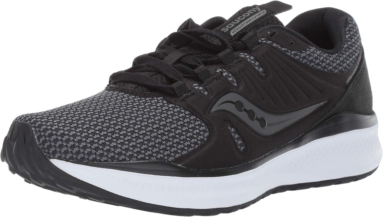 Saucony Women's VERSAFOAM Inferno shoes, Black Charcoal, 9.0 M US