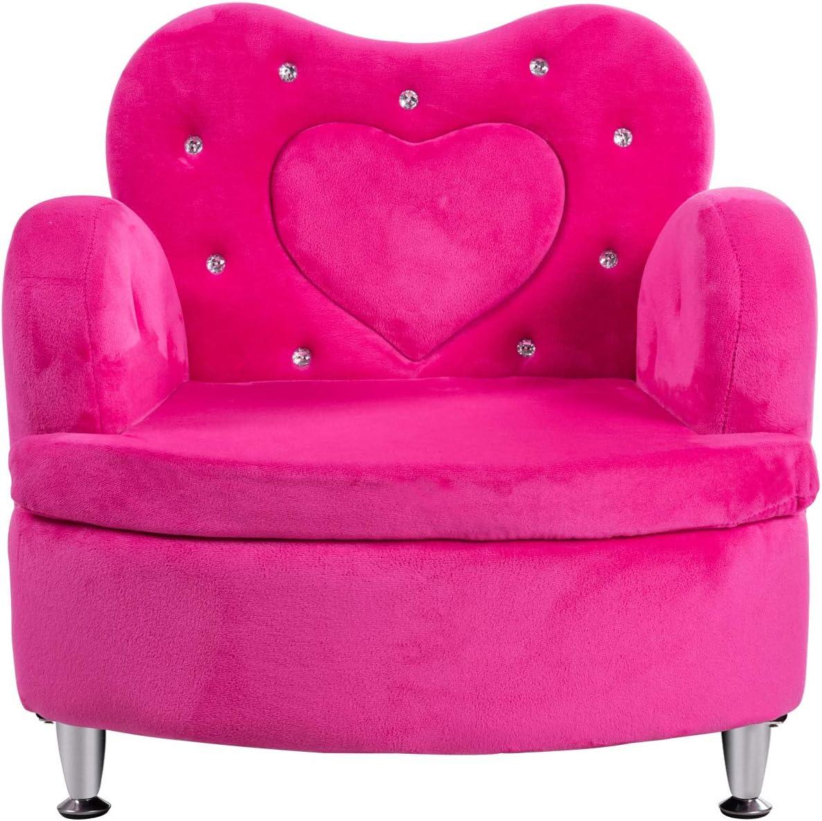 HONEY JOY Kids Sofa Soft Children Popular standard w Upholstered Houston Mall Armchair Velvet