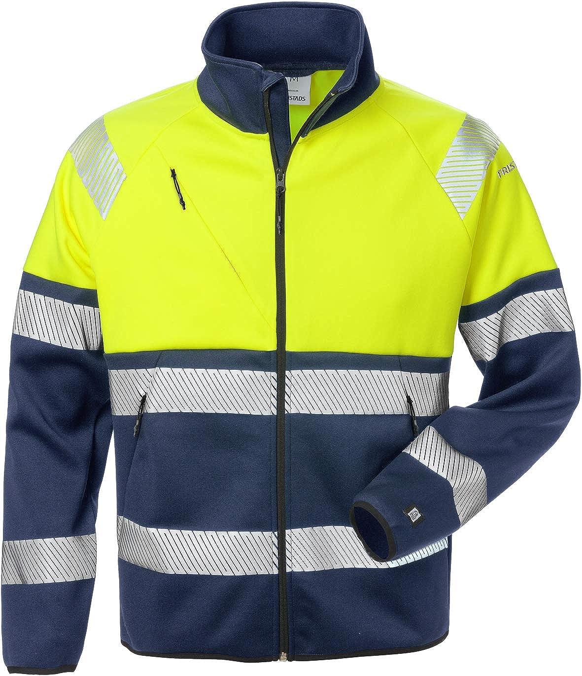Fristads Workwear 129509 Mens Class 1 High Vis Sweat Jacket Yellow-Navy XL