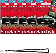 SanDisk Cruzer Glide 16GB (5 pack) SDCZ600-016G USB 3.0 Flash Drive Jump Drive Pen Drive SDCZ600-016G - Five Pack