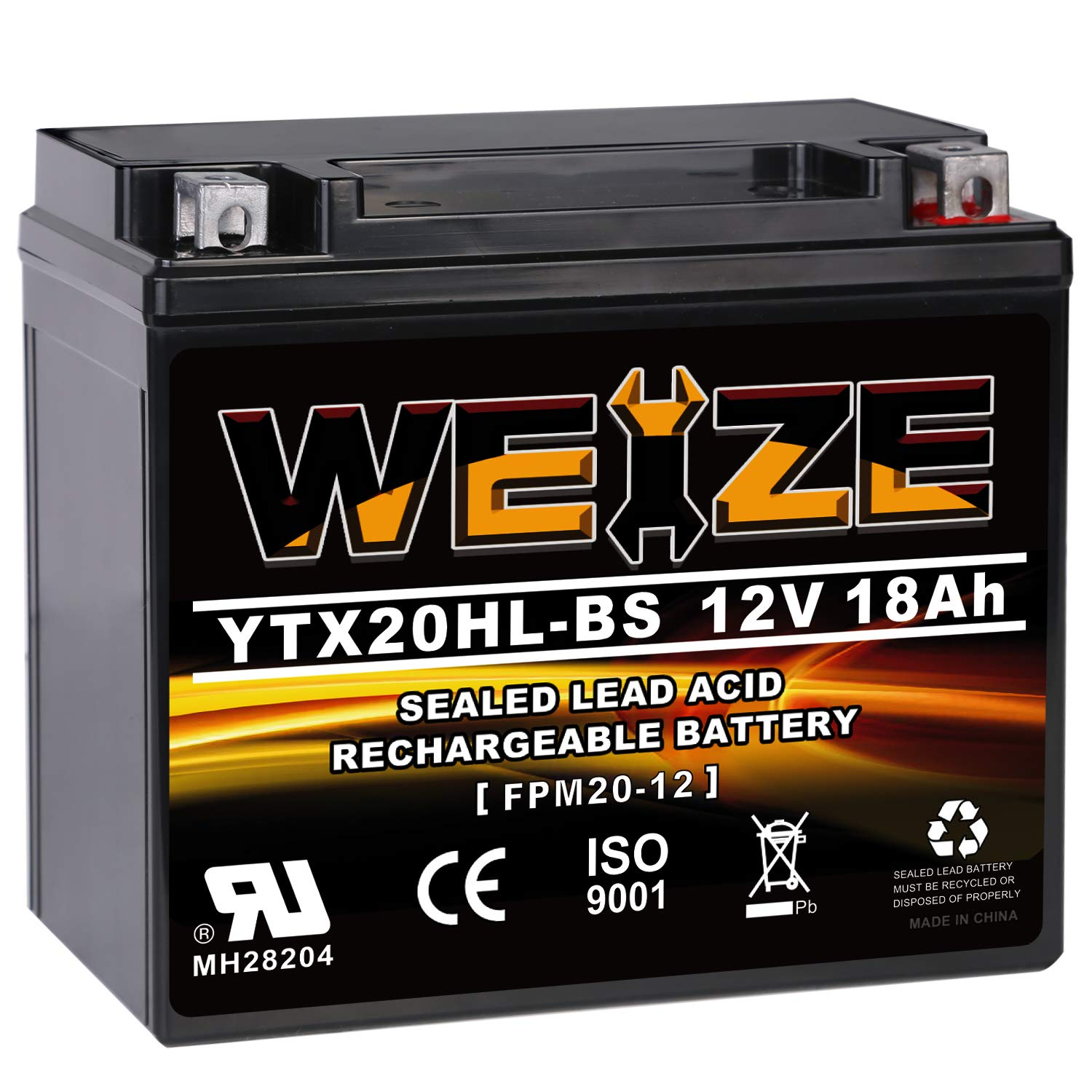 Weize YTX20HL BS Battery High Performance