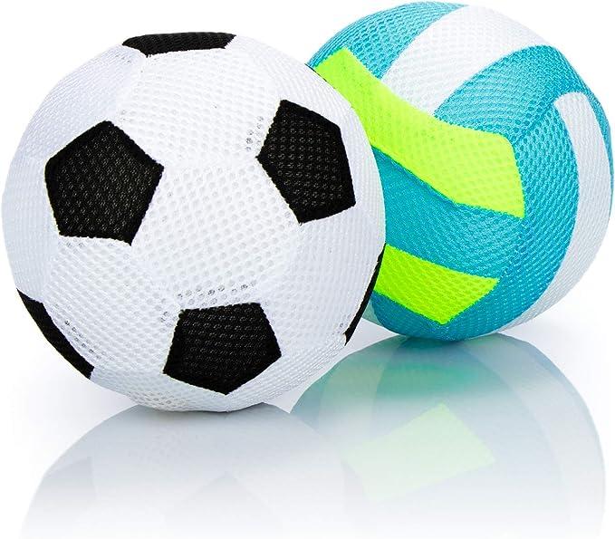 180 opinioni per com-four® 2X Palla Gonfiabile, Pallone da Calcio e pallavolo Morbido, Palla per