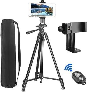 Trípode de Cámara (157cm/62) PEYOU Trípode para Móvil de Aluminio con Sostenedor 360 ° Rotación Control Remoto Bluetooth Bolsa para Samsung/iphone/Cámara DSLR
