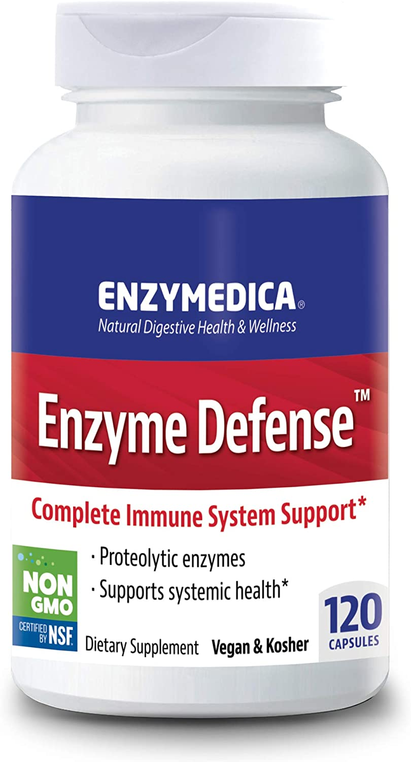 Enzymedica, Enzyme Defense, Specialized Enzyme Formula For Immune System Support, Vegan, Kosher 120 Capsules (120 Servings)