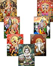 Wholesale Lot of 10 Hindu Gods and Goddess Reprint Posters : Size - 9x11 Inches