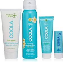 product image for COOLA Organic Sunscreen & Lip Balm Sun Protection Kit, Made with Coconut Oil and Shea Butter, Broad Spectrum SPF 30, Reef Safe, Travel Size, 4 Items Total