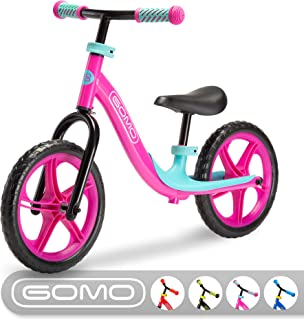 GOMO Balance Bike - Toddler Training Bike for 18 Months, 2, 3, 4 and 5 Year Old Kids - Ultra Cool Colors Push Bikes for Toddlers/No Pedal Scooter Bicycle with Footrest