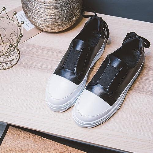 ANI Station Européenne Printemps Chaussures Occidentales Blanches Chaussures Dentelle avec un Fond épais avec un Rond Unique Chaussures Femmes