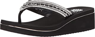 Yellow Box Women's Marcy Sandal, black, 6