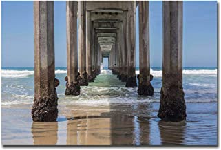 Under Scripps Pier, La Jolla by Barbara Markoff Premium Gallery-Wrapped Canvas Giclee (24 in x 36 in, Ready to Hang)