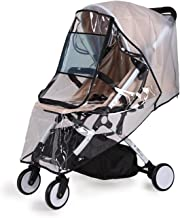 bemece Universal Regenschutz für Kinderwagen, Regenverdeck für buggy, Bequemes Zugangsfenster, Gute Luftzirkulation, Schadstofffrei