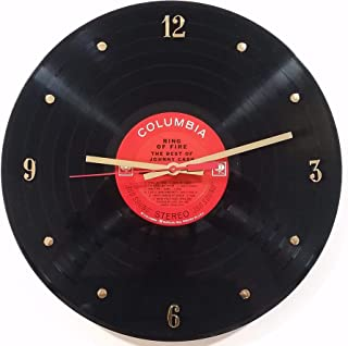 Record Clock - Johnny Cash. Handmade 12